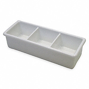 Sugar Caddy,1 7/16 In H,White