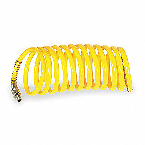 50 ft. Nylon 12 Coiled Air Hose, Yellow