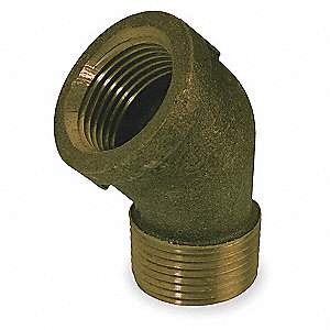 "Red Brass Street Elbow, 45°, FNPT, 1-1/2"" Pipe Size - Pipe Fitting"