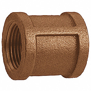 "Red Brass Coupling, FNPT, 3"" Pipe Size (Fittings)"