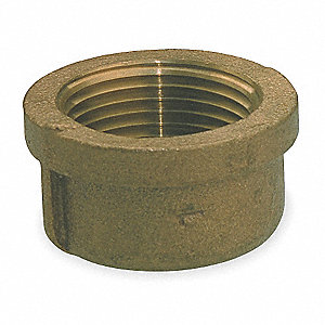 "Red Brass Cap, FNPT, 1"" Pipe Size,  1 EA"