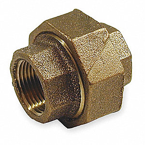 "Red Brass Union, FNPT, 2-1/2"" Pipe Size,  1 EA"