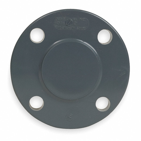 Gf piping systems pvc blind flange flanged quot pipe