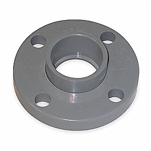 "Schedule 80 CPVC Van-Stone Flange, 1-1/2"" Pipe Size, Socket Fitting Connection Type"