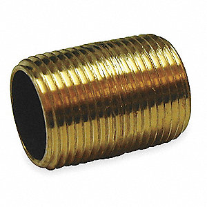 "3/4"" x Close Red Brass Pipe Nipple, Nipple"