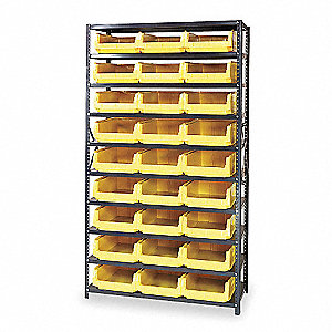 "42"" x 18"" x 75"" Bin Shelving with 4000 lb. Load Capacity, Yellow"