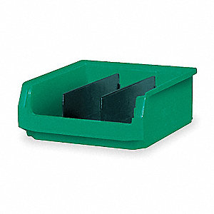 QUANTUM STORAGE SYSTEMS BIN, PLASTIC, GREEN - Giant Hopper Bins