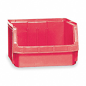 BIN, PLASTIC, RED
