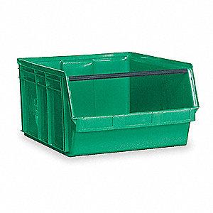 BIN, PLASTIC, GREEN