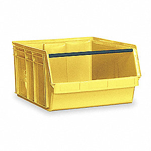 "Hopper Bin, Yellow, 11-7/8""H x 29""L x 18-3/8""W, 1EA"