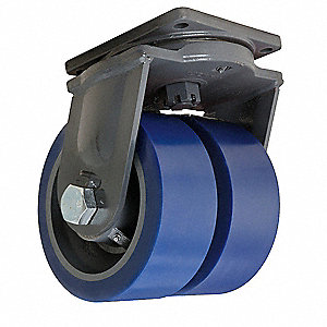 "10"" Extra Super Duty Swivel Plate Caster, 10,000 lb. Load Rating"