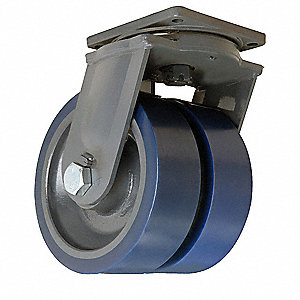"12"" Extra Super Duty Swivel Plate Caster, 12,000 lb. Load Rating"