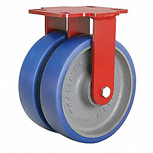 "8"" Medium-Duty Rigid Plate Caster, 2000 lb. Load Rating"
