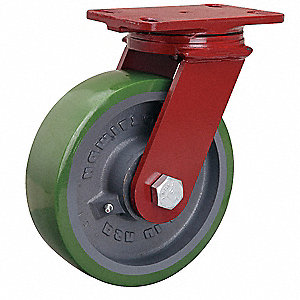 "8"" Medium-Duty Swivel Plate Caster, 2000 lb. Load Rating"