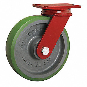 "10"" Medium-Duty Swivel Plate Caster, 2200 lb. Load Rating"