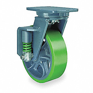 Swivel Plate Cstr,Plyurthan,6 in,1630 lb