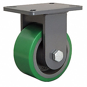 "6"" Medium-Duty Rigid Plate Caster, 2200 lb. Load Rating"