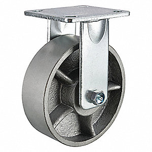 "8"" Heavy-Duty Rigid Plate Caster, 4100 lb. Load Rating"