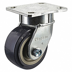 "4"" Light-Medium Duty Kingpinless Swivel Plate Caster, 600 lb. Load Rating"