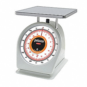 Washable Dial Scale,Mechanical,0.9kg/2lb