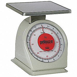 Washable Dial Scale,Mechanical,18kg/40lb