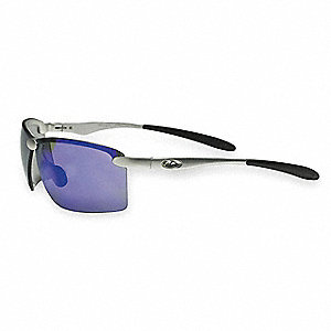 OCC  101 Scratch-Resistant Safety Glasses, Blue Mirror Lens Color
