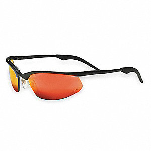 OCC  201 Scratch-Resistant Safety Glasses, Red Mirror Lens Color
