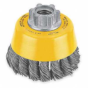 Knot Wire Cup Brush,Arbor,0.020 In.