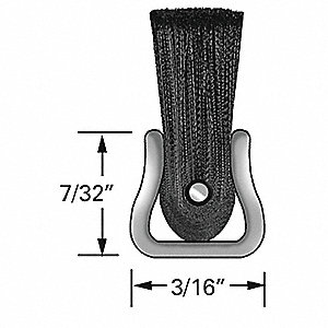 Strip Brush,3/16W,96 In L,Trim 6 In,PK10