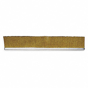 Strip Brush,3/16 W,24 In L,Trim 1 In