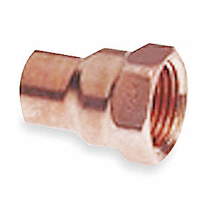 "Wrot Copper Reducing Adapter, C x FNPT Connection Type, 1/4"" Tube Size"