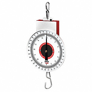 Mechanical Hanging Scale,17-1/4 In. L