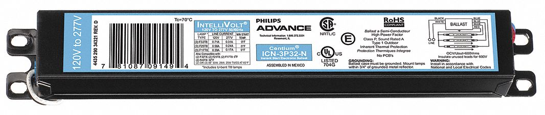 ICN-3P32-N *FREE SHIPPING* NEW Philips Advance Centium
