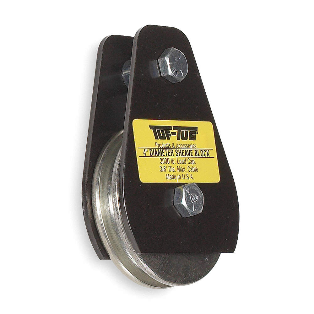TUF-TUG Pulley Block, Wire Rope, 3000 lb Load Cap. - 1VN60|SB3000P ...