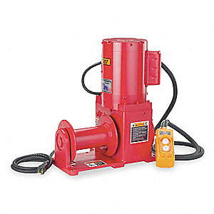 Electric Winch,1-1/5HP,115VAC
