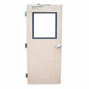 Security Door,Type CE,Red Oak Veneer