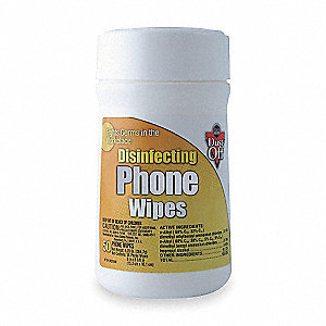 Disinfecting Phone Wipes, Recommended For Use on Phones, Office Equipment