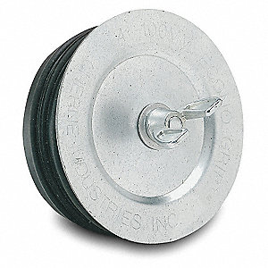 "1-1/2"" Mechanical Pipe Plug, Galvanized Steel"