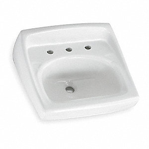 LAVATORY SINK,WALL MT,CENTER 8IN,18