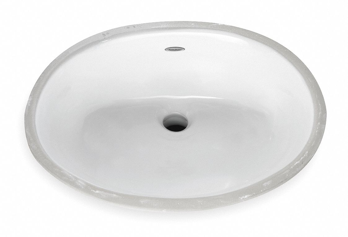 American Standard American Standard Ovalyn Series 17 In X 14 In Vitreous China Bathroom Sink 1vnw5 0496221 020 Grainger