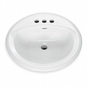 Vitreous China Counter Top Bathroom Sink Without Faucet 15 X 12 1 8 Bowl Size