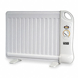 "20-3/4"" x 2-1/2"" x 14-7/8"" Radiant Non-Oscillating Electric Flat Panel Heater, White"