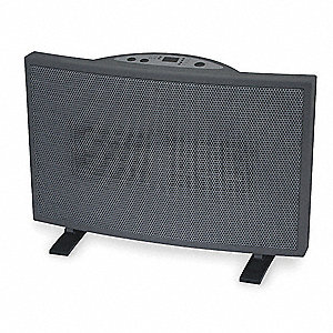 "15-3/8"" x 5"" x 10-3/8"" Fan Forced Non-Oscillating Electric Space Heater, Gray"