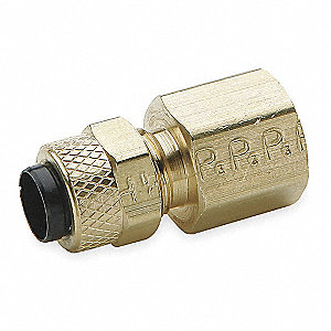 "Brass Compression x FNPT Female Connector, 1/2"" Tube Size"