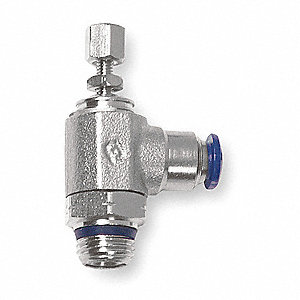 "Nickel-Plated Brass Elbow Universal Flow Control with 3/8"" Tube Size"