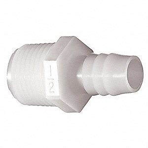 Male Adapter,3/4 x 3/4 In,Nylon,PK10