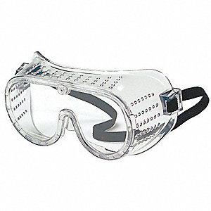 Scratch-Resistant Impact Resistant Goggles, Clear Lens Color