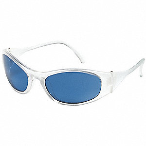 Freeze  Scratch-Resistant Safety Glasses, Light Blue Lens Color