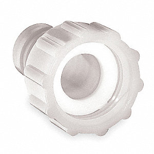 "Nylon Garden Hose Adapter, 1/2"" Barbed x 3/4"" FGHT Connection"