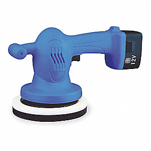 Auto Polisher,12 VDC,6 In,w/2 Bonnets